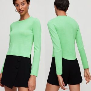 NEW Aritzia Babaton Nathaniel Sweater Lime Green